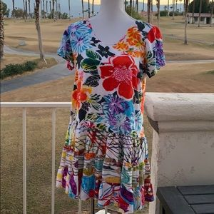 Jams World Floral ruffle dress sz Small